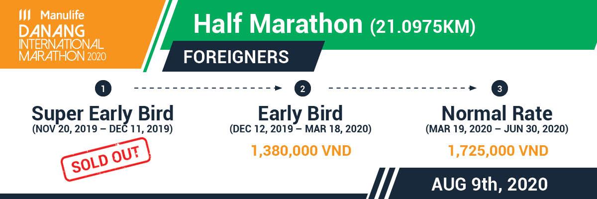 Manulife DaNang International Marathon 2020 - Foreigners - 21km